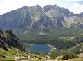 Mountains high tatras lake popradske slovakia Stock Images
