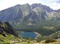 Mountains high tatras lake popradske slovakia Stock Images