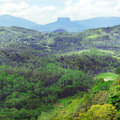Mountains on island of sri lanka covered forest Royalty Free Stock Images
