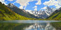 Mountains lake this is in caucasus in spring Royalty Free Stock Images