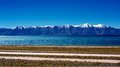 Mountains and lake in Qinghai-Tibet Plateau Stock Images