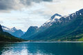 Mountains landscape and fjord in Norway Royalty Free Stock Photo