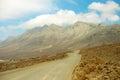 Mountains landscape with Villa Winter on Fuerteventura, Spain. Royalty Free Stock Photo