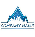Mountains logo company name design Stock Images