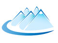 Mountains logo vector Stock Images