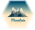 Mountains low poly style illustration beautiful mountain landscape vector Royalty Free Stock Photography