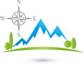 Mountains and meadow, Sport and Tourism Logo