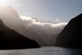 Mountains in the milford sound southland south island new zealand Royalty Free Stock Images