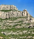 Mountains montserrat in spain in the northwest from barcelona the freakish and mysterious place a massif which consists from more Royalty Free Stock Image