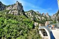 Mountains montserrat in spain in the northwest from barcelona the freakish and mysterious place a massif which consists from more Royalty Free Stock Photography