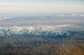 Mountains near mashhad iran aerial view of the mountain ranges binalood and hezar masjed in northern Royalty Free Stock Images