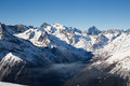 Mountains nice view russia caucasus sochi Royalty Free Stock Photo