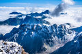 mountains over the clouds Royalty Free Stock Photo