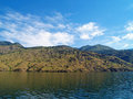 Mountains overlooking lake chelan in washington state usa Stock Photos
