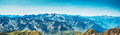 Mountains panorama pyrenees summer wide Royalty Free Stock Photography