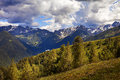 Mountains panorama with of valtellina Royalty Free Stock Images