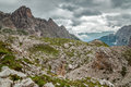 Mountains paternkofel italy dolomites in the area of the Royalty Free Stock Image