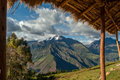 Mountains in peru high peruvian valle sagrado Royalty Free Stock Image
