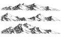 Mountains ranges Royalty Free Stock Photo