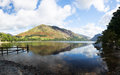 Mountains reflect buttermere calm lake english lake district Royalty Free Stock Photos