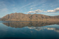 Mountains reflecting in lake Hawea Royalty Free Stock Photo