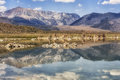 Mountains reflecting in Mono Lake, California, USA Royalty Free Stock Photo