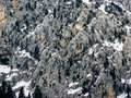 Mountains rocks covered from snow winter landscape Royalty Free Stock Photo