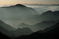 Mountains in silhouette