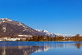 Mountains ski resort abersee austria nature and sport background Royalty Free Stock Photo