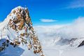 Mountains ski resort kaprun austria nature and sport background Royalty Free Stock Photos
