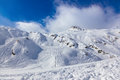 Mountains ski resort kaprun austria nature and sport background Royalty Free Stock Images