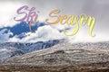 Mountains in snow - Australian Alps, New South Wales, Australia Royalty Free Stock Photo