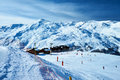 Mountains with snow in winter meribel alps france Stock Photography
