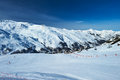 Mountains with snow in winter meribel alps france Stock Photos