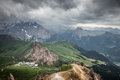 Mountains stormy weather Royalty Free Stock Photo
