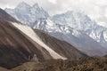 Mountains and stupa great himalayan small old buddhist Royalty Free Stock Photo
