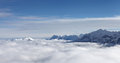 Mountains summits over clouds germany Royalty Free Stock Photography