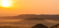The mountains sunrise summer landscape in Royalty Free Stock Photos