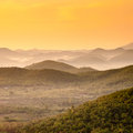 The mountains sunrise summer landscape in Royalty Free Stock Photo