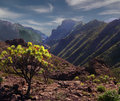 The mountains of tenerife is largest canary islands and very mountainous rising at highest point to over three thousand seven Royalty Free Stock Photography