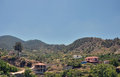 The mountains of troodos the village of kakopetria cyprus Royalty Free Stock Photography