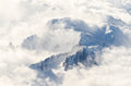 Mountains view from the plane snowy Royalty Free Stock Photo