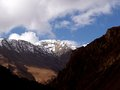 Mountains the view of seen on the way to thorong la pass nepal Stock Photos