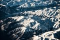 Mountains view from the top alps a plane Stock Photos