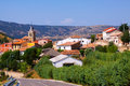 Mountains village in summer day frias de albarracin aragon Royalty Free Stock Image