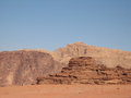 Mountains of wadi rum Royalty Free Stock Photo