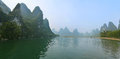 Mountains on water beautiful landscape from guilin province china Royalty Free Stock Image