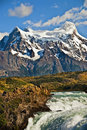 Mountains And Waterfall, Chile