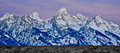Mountains of wyoming panoramic view at dawn Stock Photography
