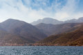Mountainside view montenegro bay of kotor Stock Image